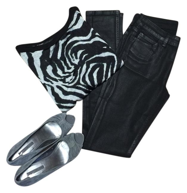 Item - Black Coated Saturday with Coating Skinny Jeans Size 24 (0, XS)