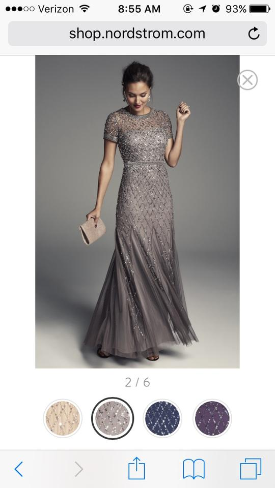 Adrianna Papell Lead Beaded Cap Sleeve Gown Item 04517876 Formal