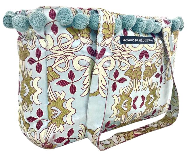 Item - Brocade Tote Blue Gold & Red Silk Diaper Bag