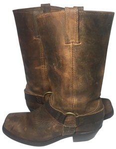 Frye 77300 Harness Size 9.5 Women 9.5 Motorcycle 9.5 Brown Boots