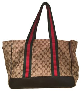Gucci Dog Carrier Tote in Monogram Brown