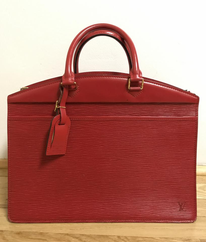 589bd0e4c6a6 Louis Vuitton Riviera Rouge Red Epi Leather Tote - Tradesy