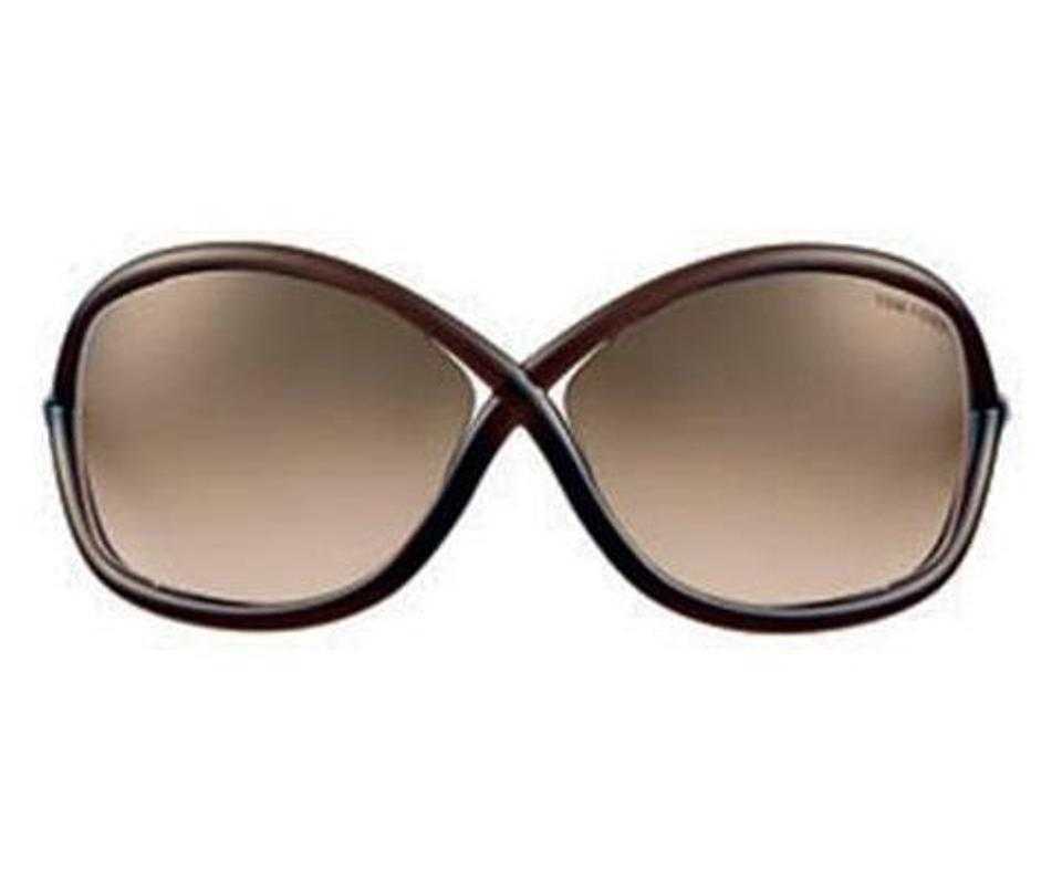 c53edd1d7d993 Tom Ford Tom Ford FT0009 Whitney 692 Dark Brown Transparent  Rose Gold  Metal Image 0 ...