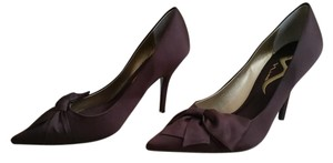 Nina Shoes Dark Brown Satin Pumps