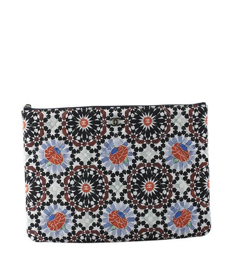 Chanel Fabric Multi-Color Clutch Image 2