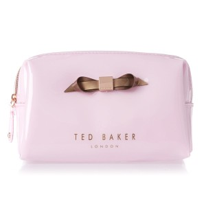14dc0e9904a5e Ted Baker Nelly Medium Wash Bag Slim Bow Pink PVC Plastic