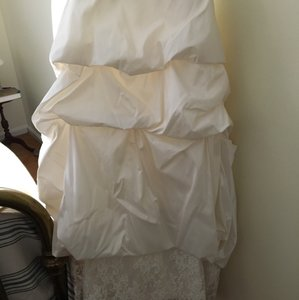 Jasmine Couture Bridal Ivory T833 Formal Wedding Dress Size 10 (M)