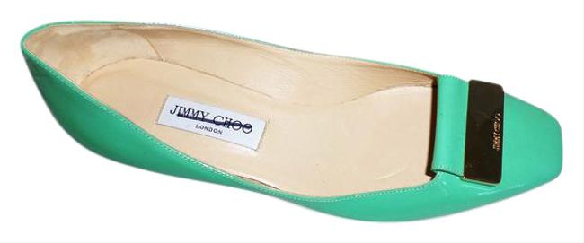 Item - Green Patent Leather Flats Size US 9.5 Regular (M, B)