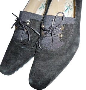 Ros Hommerson Black suede Flats