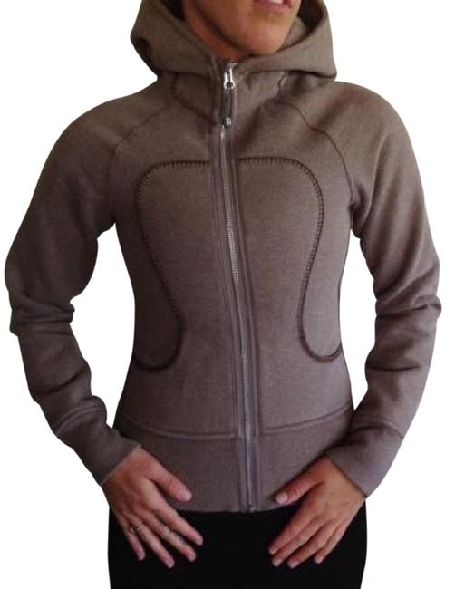 Item - Brown Scuba Stitched Activewear Outerwear Size 4 (S, 27)