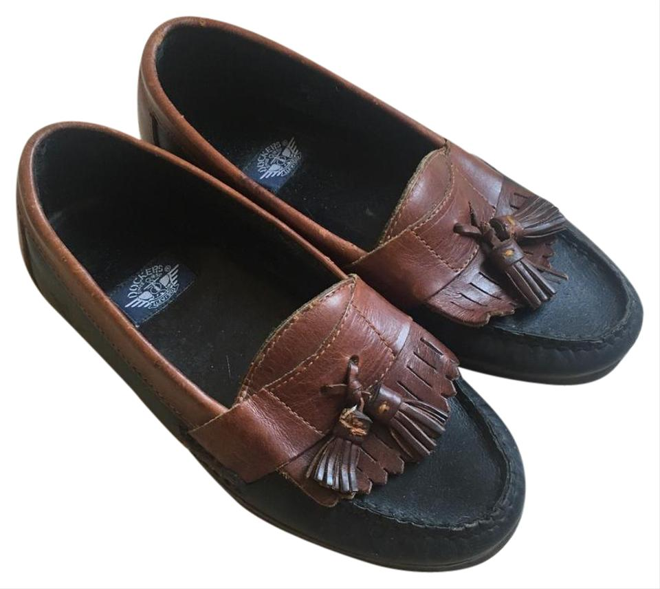 010d692d4727 Dockers Men s Vintage Brown Leather Loafers with Tassles Flats Size ...