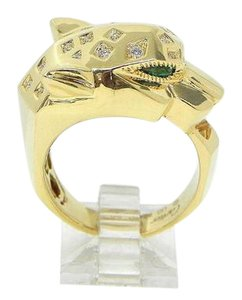 Cartier Panthere Yellow Gold and Diamonds Ring. Size 56.