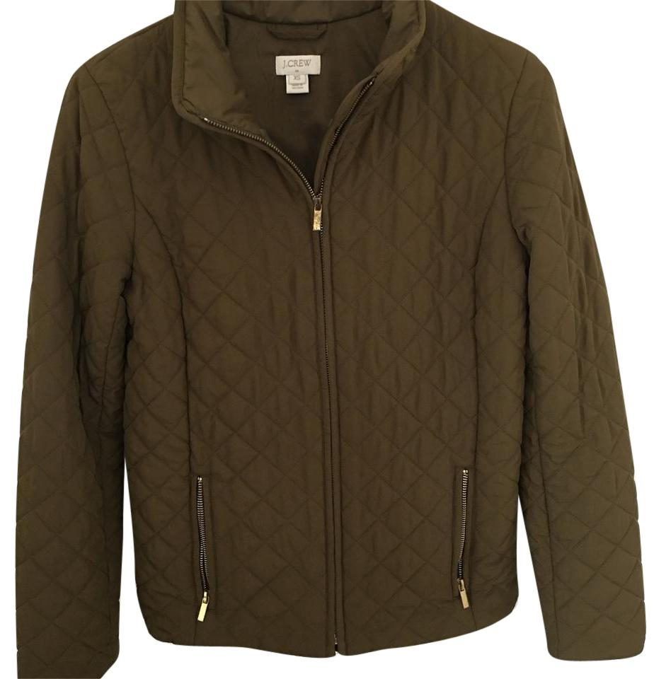 Jew Olive Quilted Jacket Activewear Size 2 Xs Tradesy