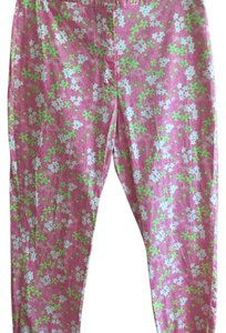Lilly Pulitzer Straight Pants deep pink, light pink, green