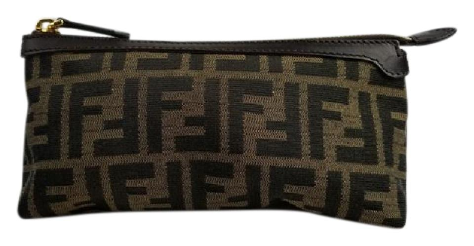 7939bab3bf3e Fendi Zucca Canvas Pouch Cosmetic Bag - Tradesy