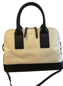 Kate Spade Bags Purses Sale Discount Outlet Satchel in Buttermilk and Black