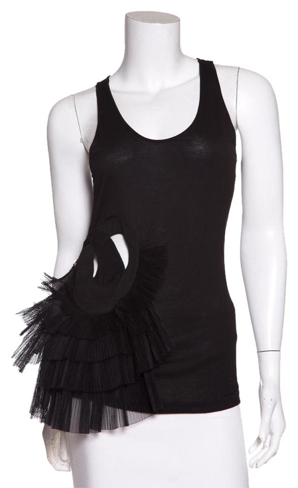 c9f4a53467d1f Givenchy Black Pleated-detail Tank Top Cami Size 8 (M) - Tradesy
