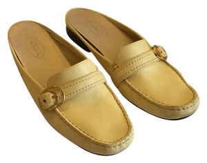 Talbots butter yellow Mules