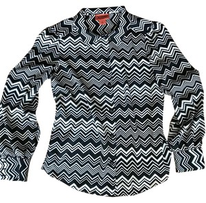 Missoni for Target Rare Size Small Button Down Shirt Black and white chevron