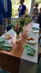 Rose Gold Reserved For Cary Tablecloth