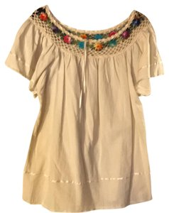 Mexicana Top beige