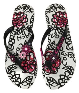 Coach black, pink and white Sandals