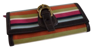 Coach multi color bi fold