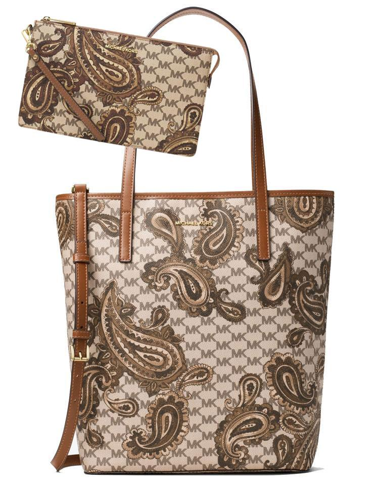 fd0e4ae1cb9f Michael Kors Wristlet + Emry Large North/South Heritage Paisley ...
