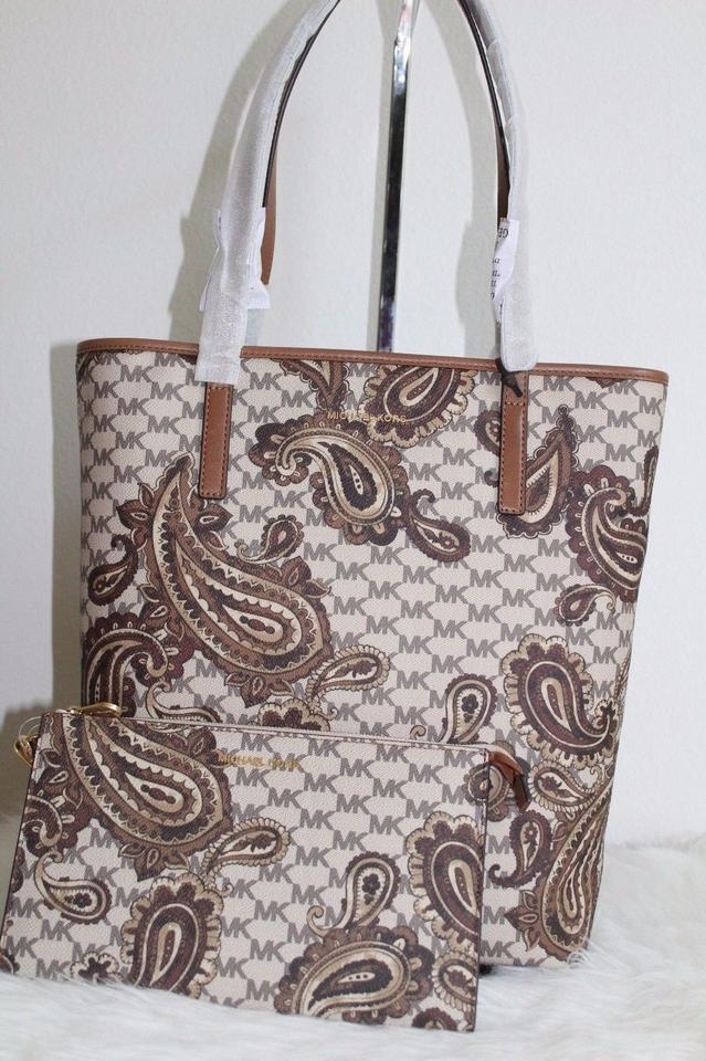 ac2f21da5709 Michael Kors Wristlet + Emry Large North South Heritage Paisley Luggage  Faux Leather Tote - Tradesy