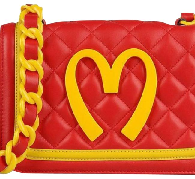 Item - Mcdonald's Collection Jeremy Scott Red and Yellow Sheepskin Leather Cross Body Bag