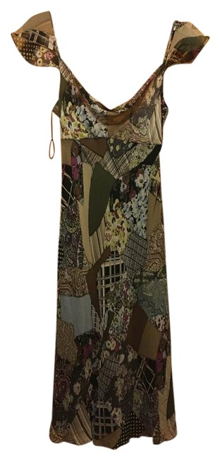 Item - Multicolor Printed Mid-length Formal Dress Size 6 (S)