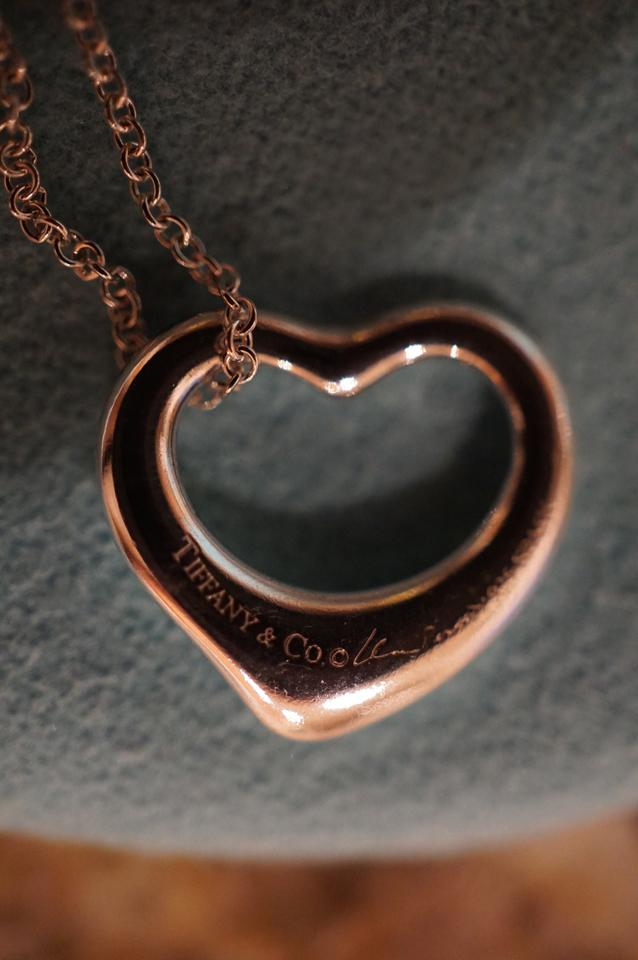 Tiffany co silvergoldbronze elsa peretti open heart sterling silvergoldbronze elsa peretti open heart sterling pendant 16mm tradesy aloadofball Gallery