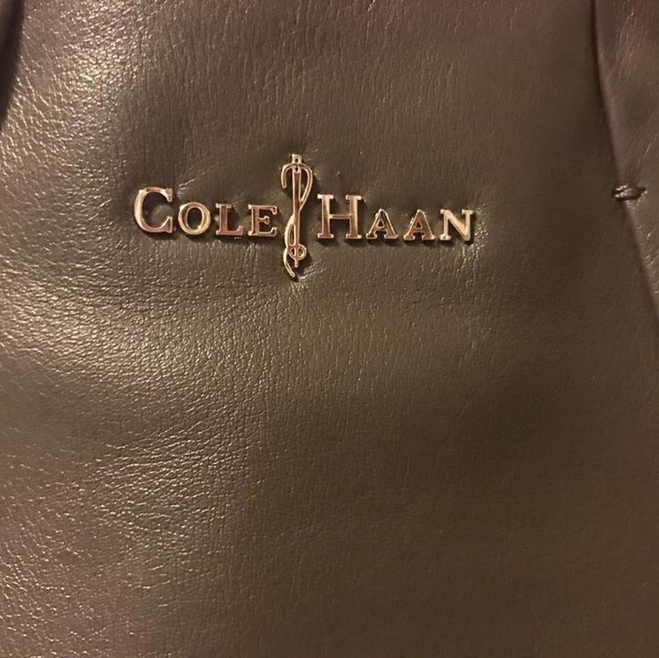 Cole Haan Grey Leather Tote Tradesy