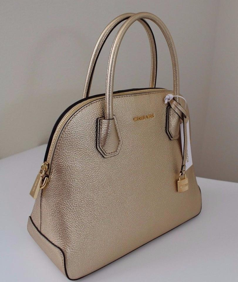 9f04d0aebce0 Michael Kors Kate Spade Leather Makayla Shoulder Satchel in Gold Image 11.  123456789101112