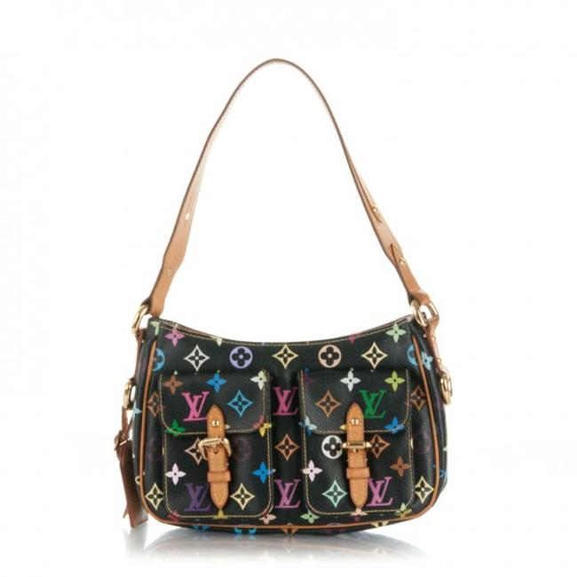 Item - Lodge Hobo Monogram Multicolor Blacks Multi Canvas Shoulder Bag