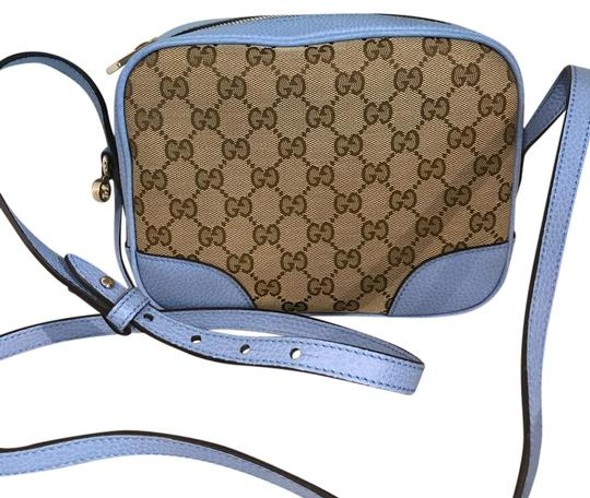 Preload https://item4.tradesy.com/images/gucci-gg-leather-blue-canvas-cross-body-bag-21667563-0-1.jpg?width=440&height=440