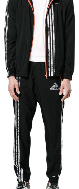 Item - Black/Silver Suit (Jacket & Pants) Activewear Sportswear Size 16 (XL, Plus 0x)