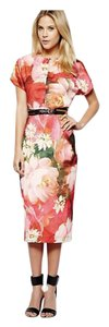 Ted Baker Floral Belted Midi Summer Party Dress