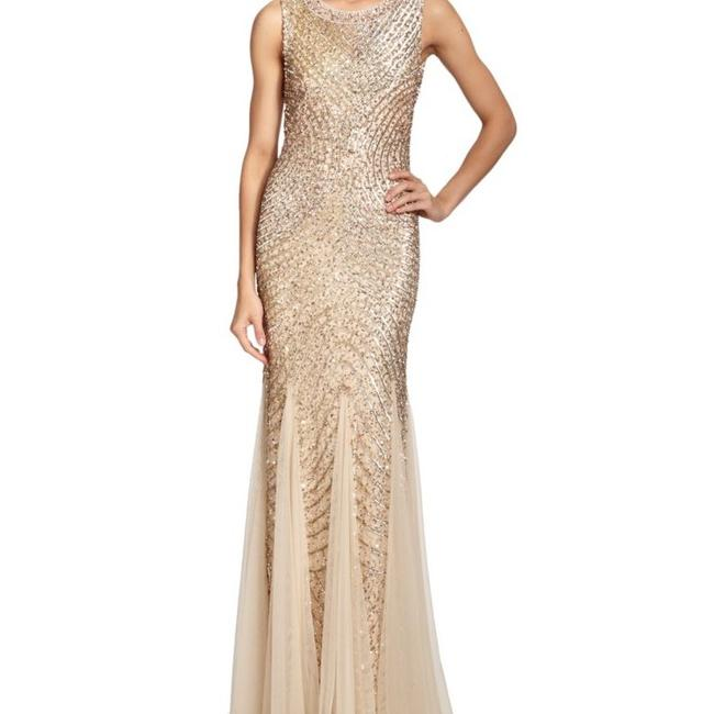 Item - Gold Soft Liner with Sequin Outter Formal Bridesmaid/Mob Dress Size 6 (S)