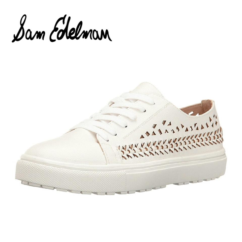 25ba1b8a83f5 Sam Edelman White Raina Woven Cut-out Sneakers Sneakers Size US 6 ...