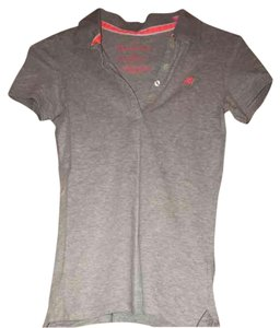 Aéropostale Button Down Shirt Gray and Pink