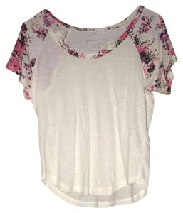 Nollie T Shirt Floral and White