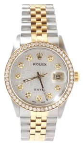 Rolex Two Tone Men's Rolex 18K Yellow Gold Stainless Steel Watch