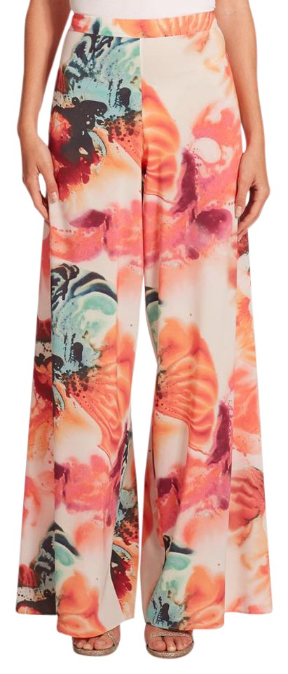 116ffa61aa330 Alice + Olivia Wide Leg Abstract Floral Print Pants Size 0 (XS, 25 ...