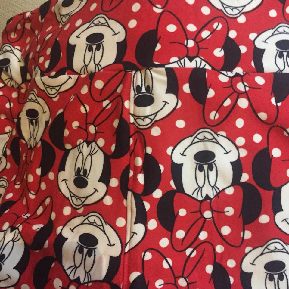 2521e49209d953 LuLaRoe Rare Tc Red Black and White Polka Dot New Minnie Mouse Leggings Size  14 (L, 34) - Tradesy