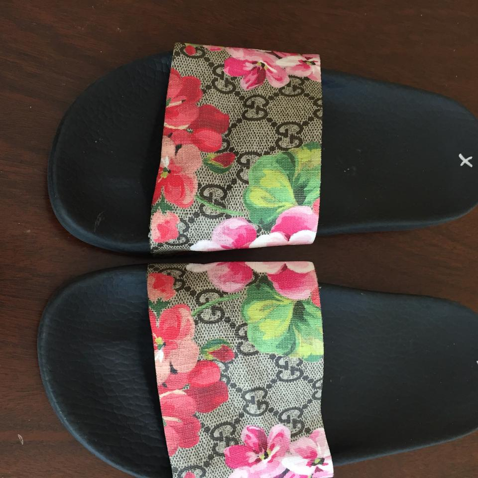 0b441aaac1cd Gucci Gg Pursuit Iconic Blooms Floral Supreme Slide Sandals Size US 6  Regular (M