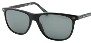 Ermenegildo Zegna New Zegna Italy EZ0009 01A ZEISS Men Rectangular Black Sunglasses 56mm
