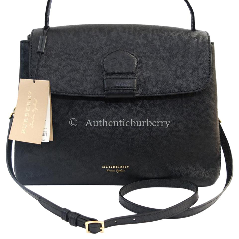 074138589512 Burberry Derby House Check Medium Camberley Black Leather Tote - Tradesy