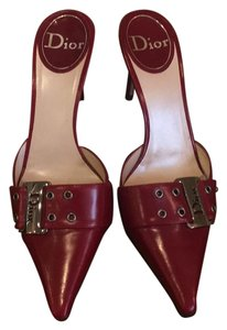Dior deep red / burgundy Mules