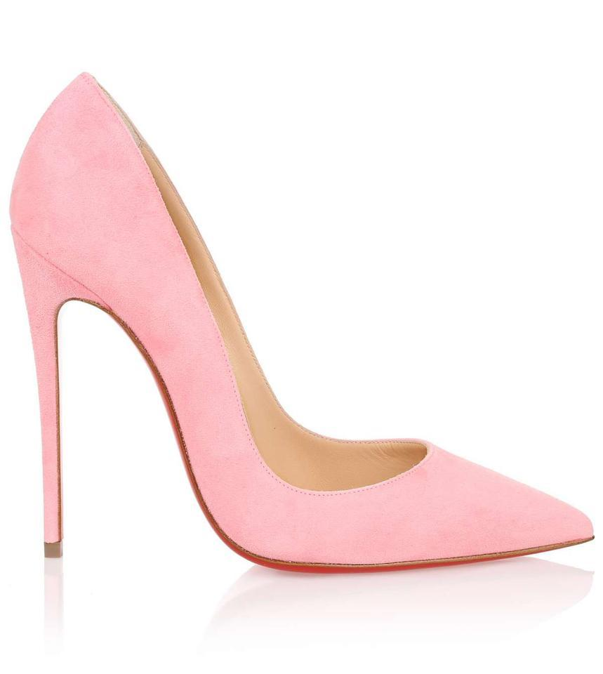 0d3e706e43bf Christian Louboutin Dolly Pink 37.5 So Kate Suede 120 Pumps Size US ...